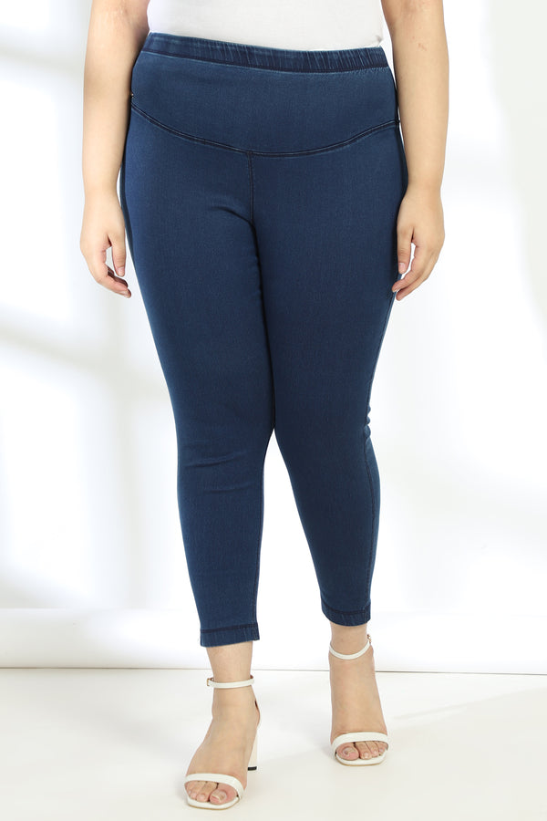 Navy Denim Essential Tummy Shaper Jegging