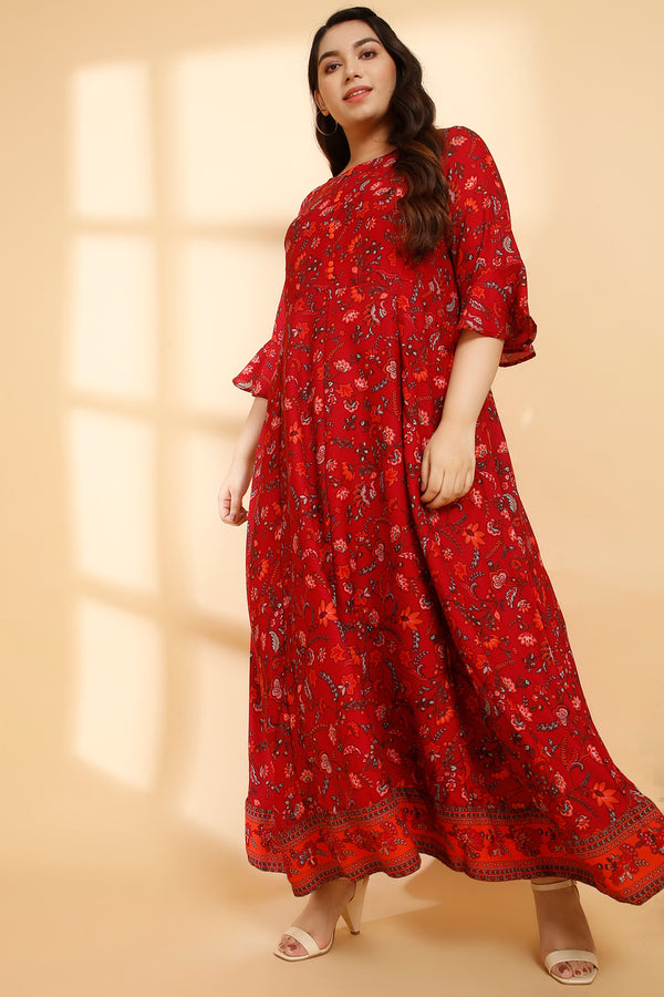 Persian Printed Festive Gown