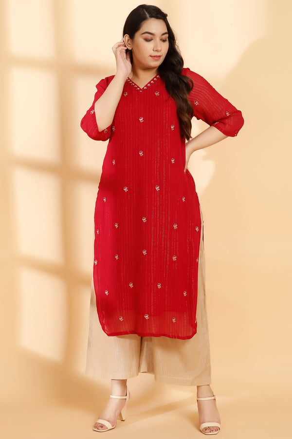 Neck Embroidery Persian Kurti