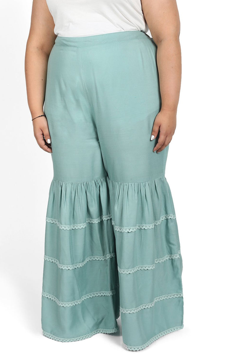 Tea Green Sharara Pants