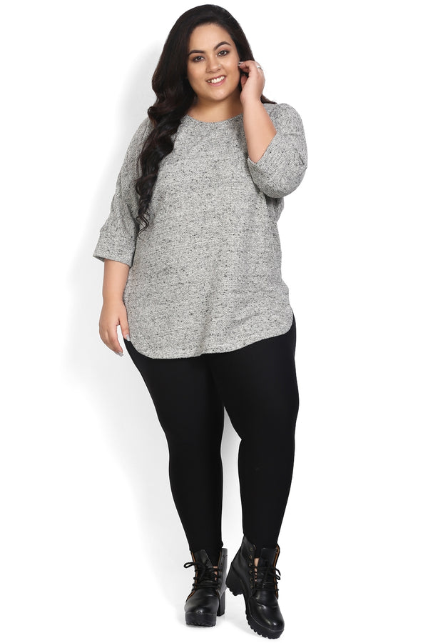 Grey Bat Sleeve Pullover