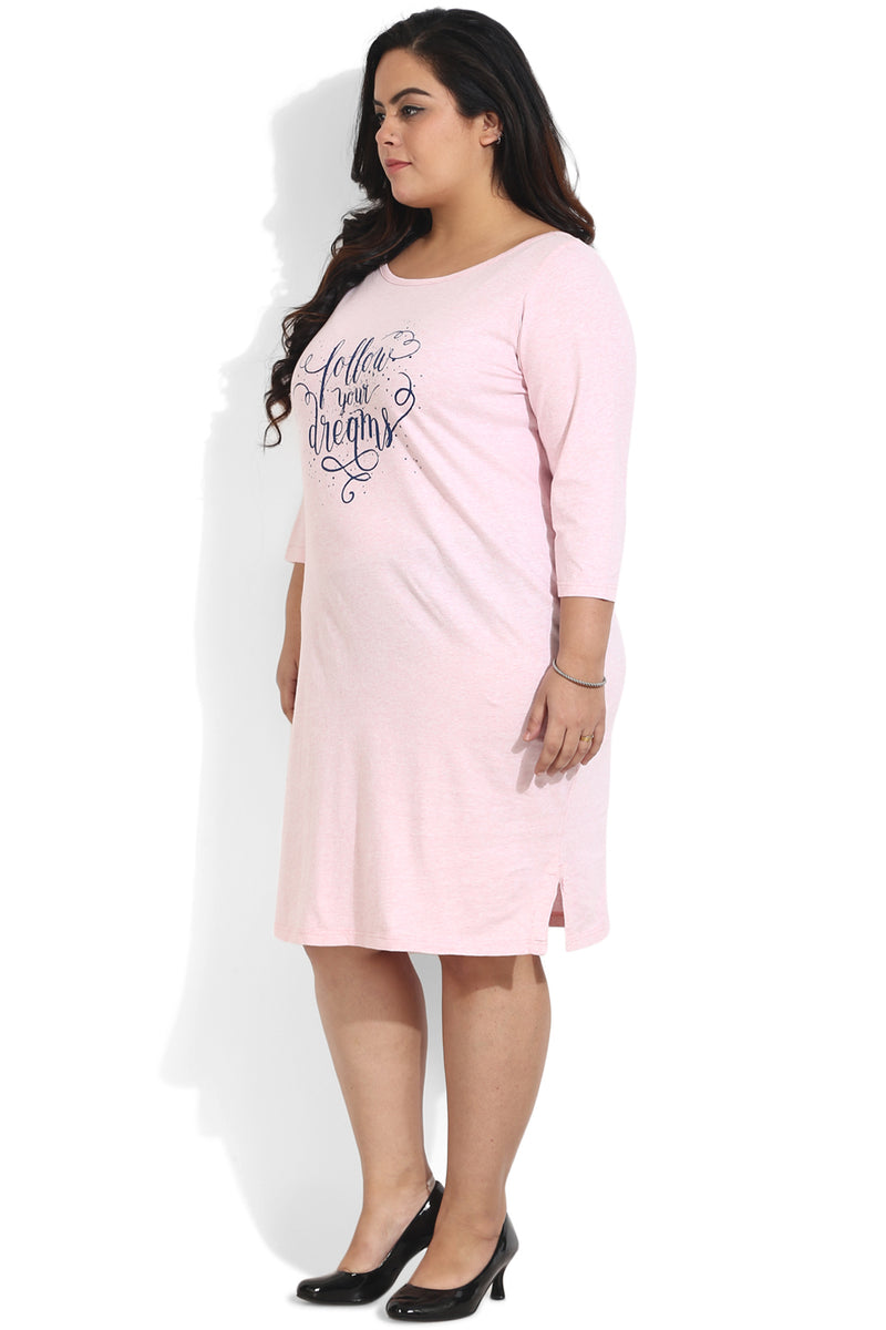 Pink Dreams Printed Lounge Dress