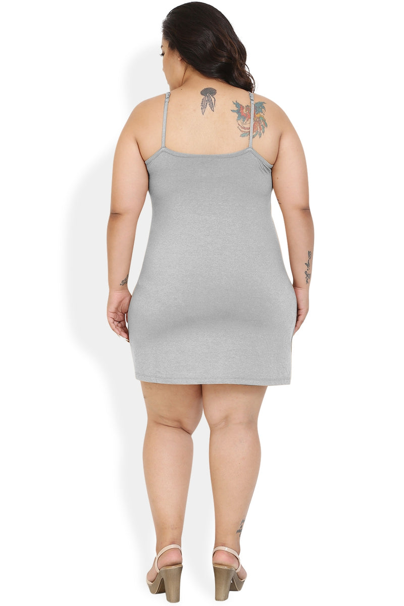 Grey Basic Full Slip