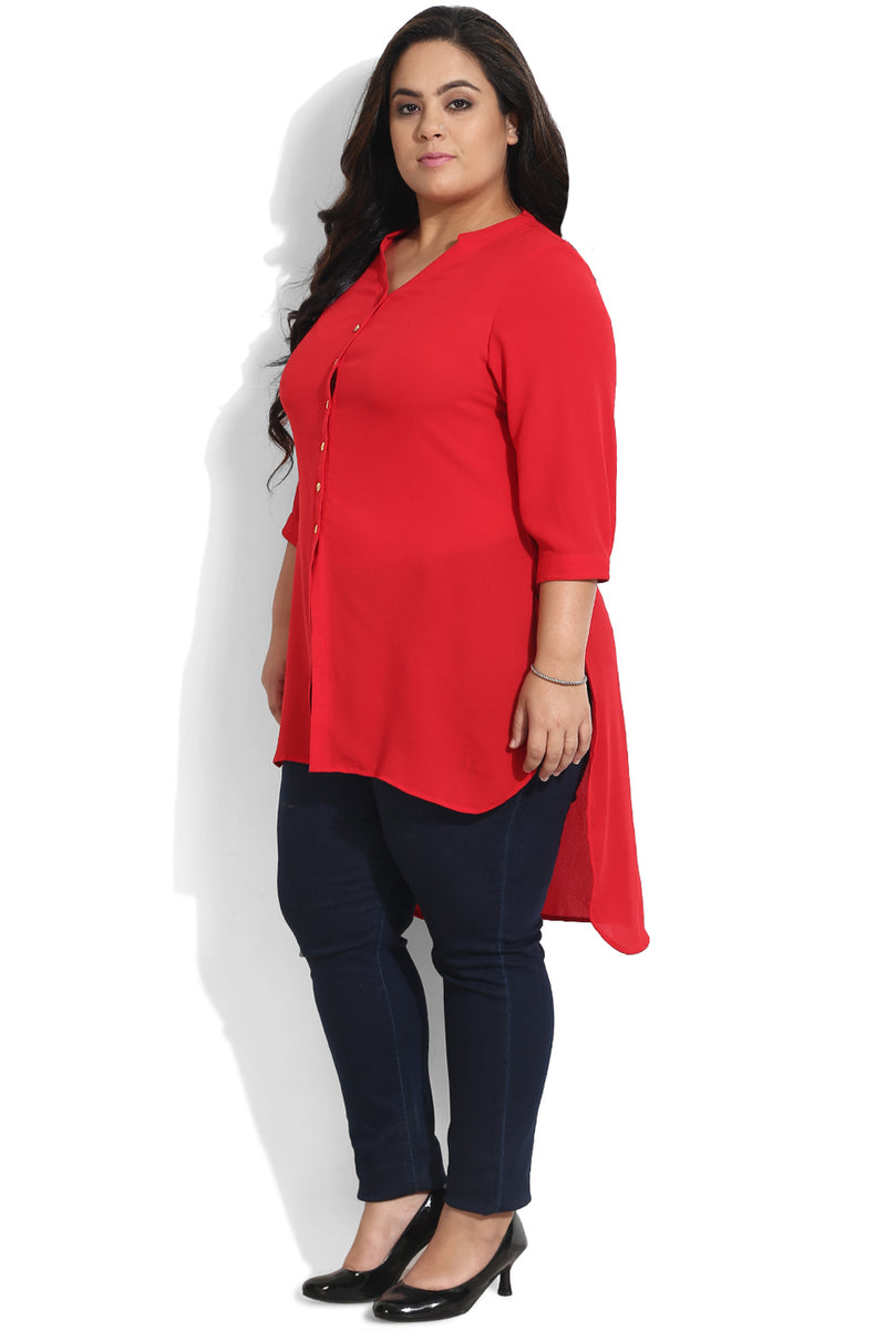Red Tie Up Tunic