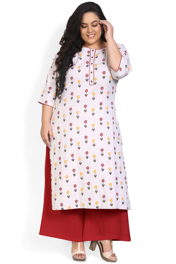 Arrow Printed Placket Closure Kurti