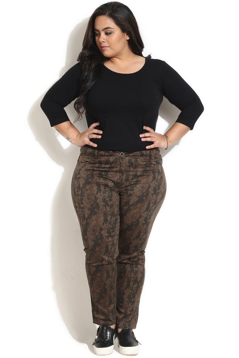 Military Print Stretch Pants