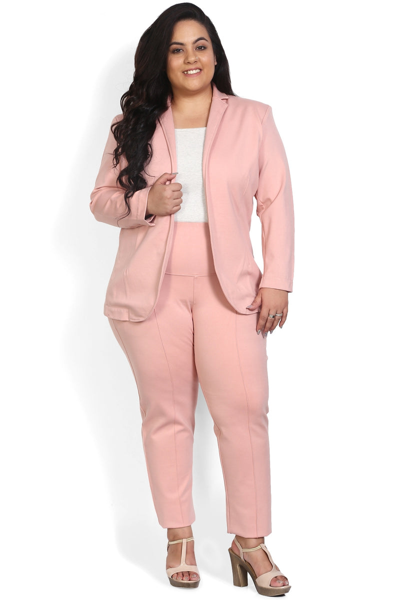 Peach Formal Knitted Jacket
