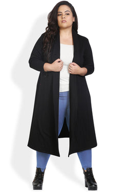 Black Flare Trench Coat