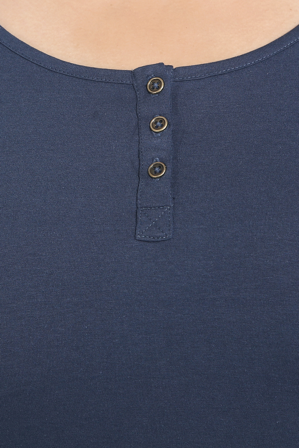 Navy Blue Henley T Shirt