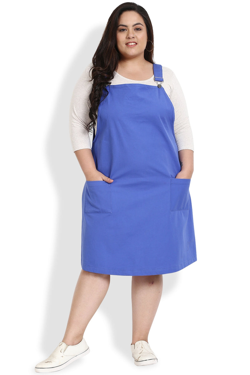 Blue Dungaree Skirt