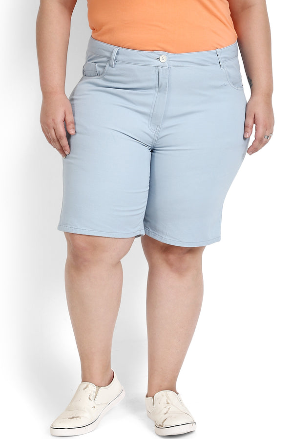 Sky Blue Basic Shorts