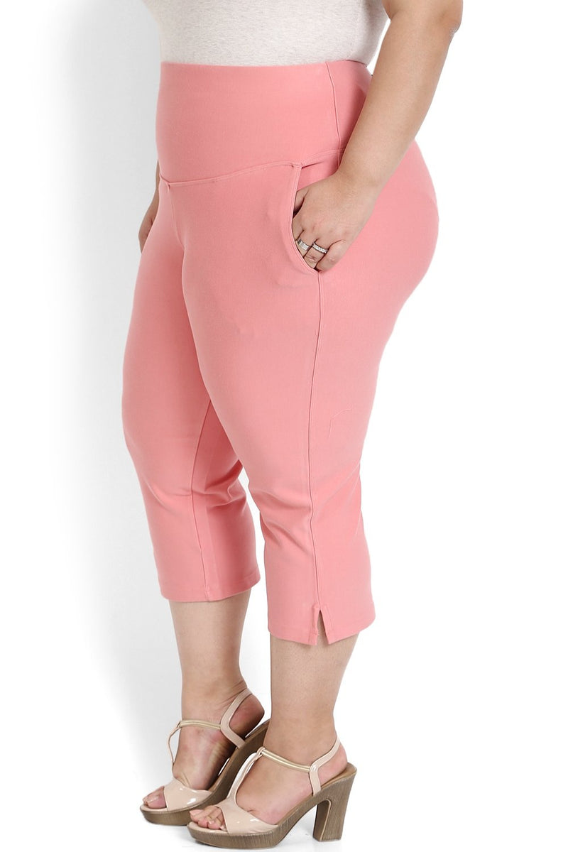 Peach Tummy Tucker Crop Pants