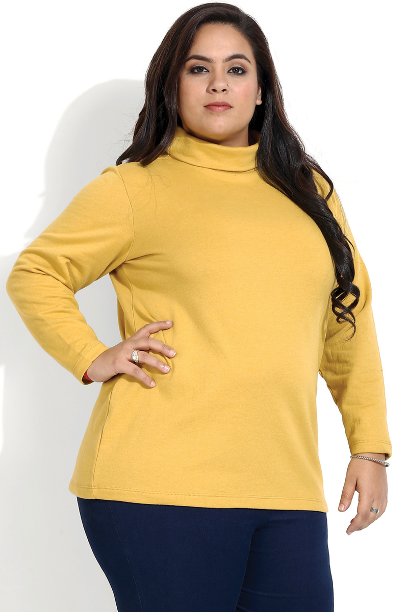 Msutard Essential High Neck Top