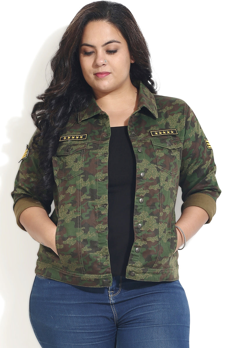 Camouflage Basic Patch Jacket