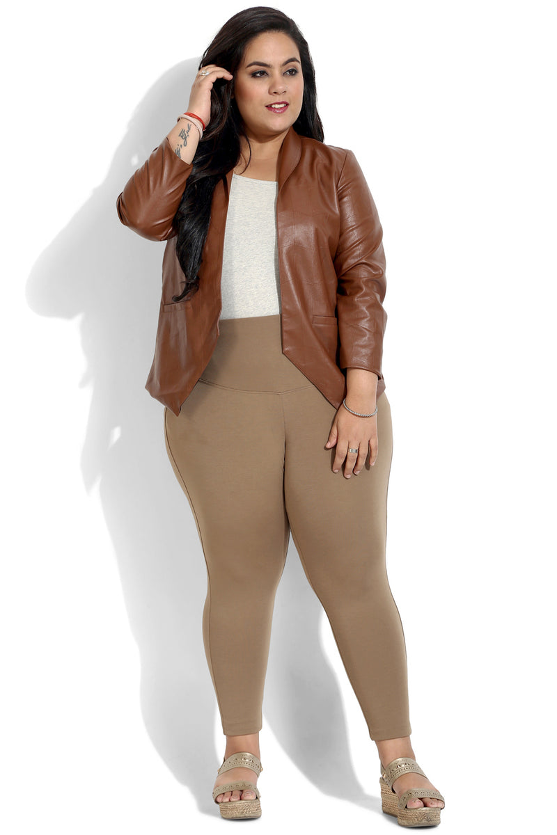 Brown Essential Tummy Shaper Jegging