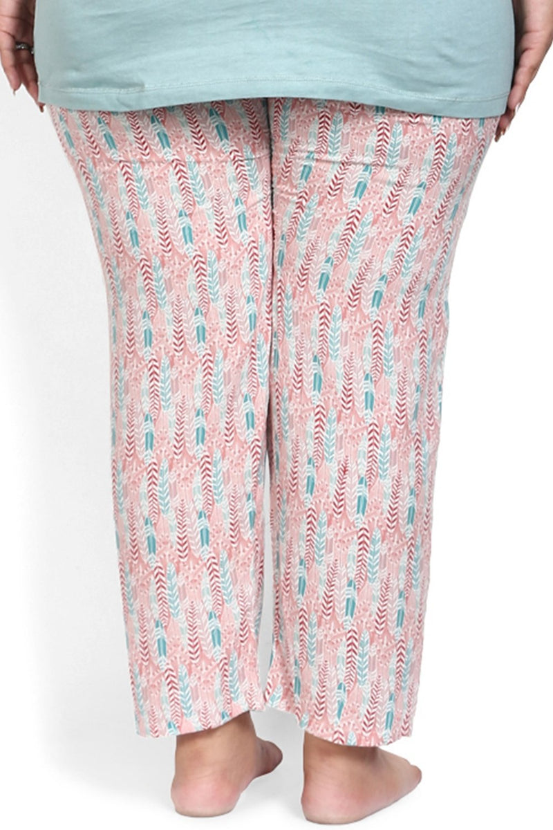 Pink Boho Printed Lounge Pants