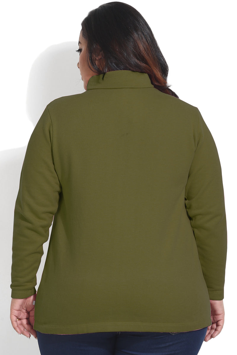 Olive Essential High Neck Top