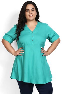 Florida Green Peplum Top