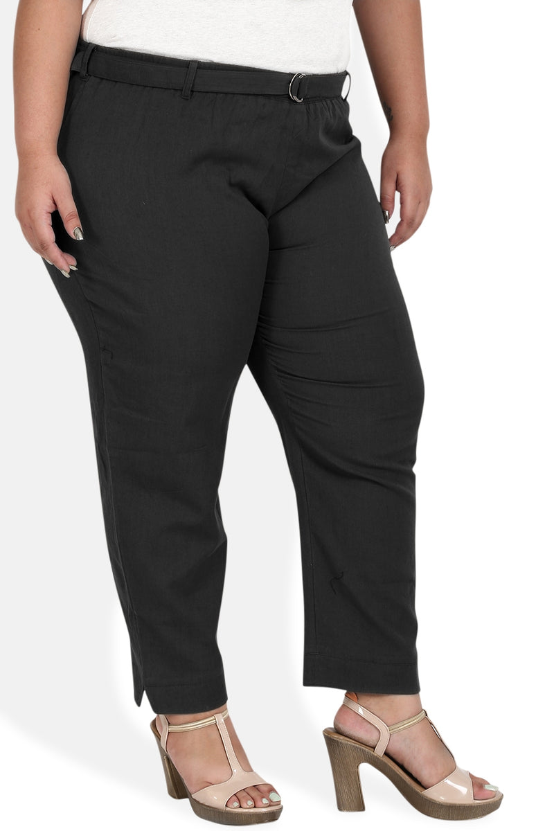 Black Cotton Relax Trousers