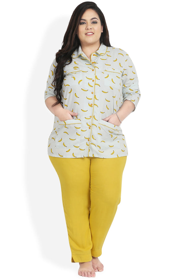 Banana Print Night Suit Set