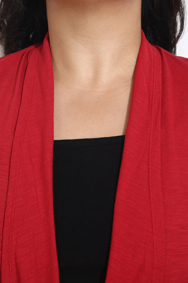 Red Cotton Shrug