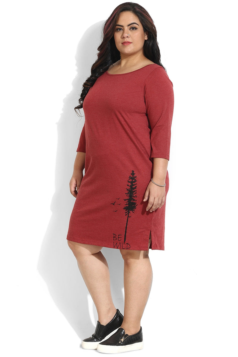 Red Be Wild Printed Lounge Dress