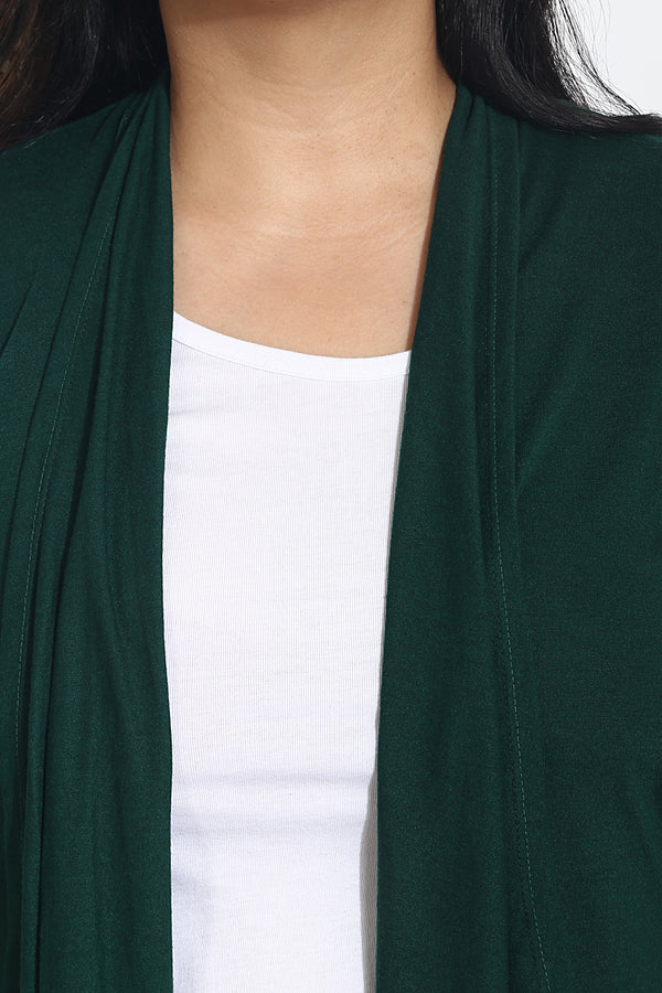 Dark Green Cotton Shrug