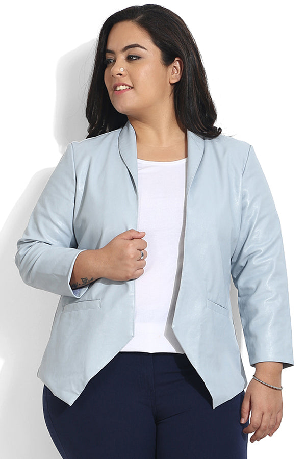 Sky Blue Open Jacket