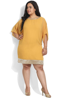 Yellow Sequin Dress Cum Tunic