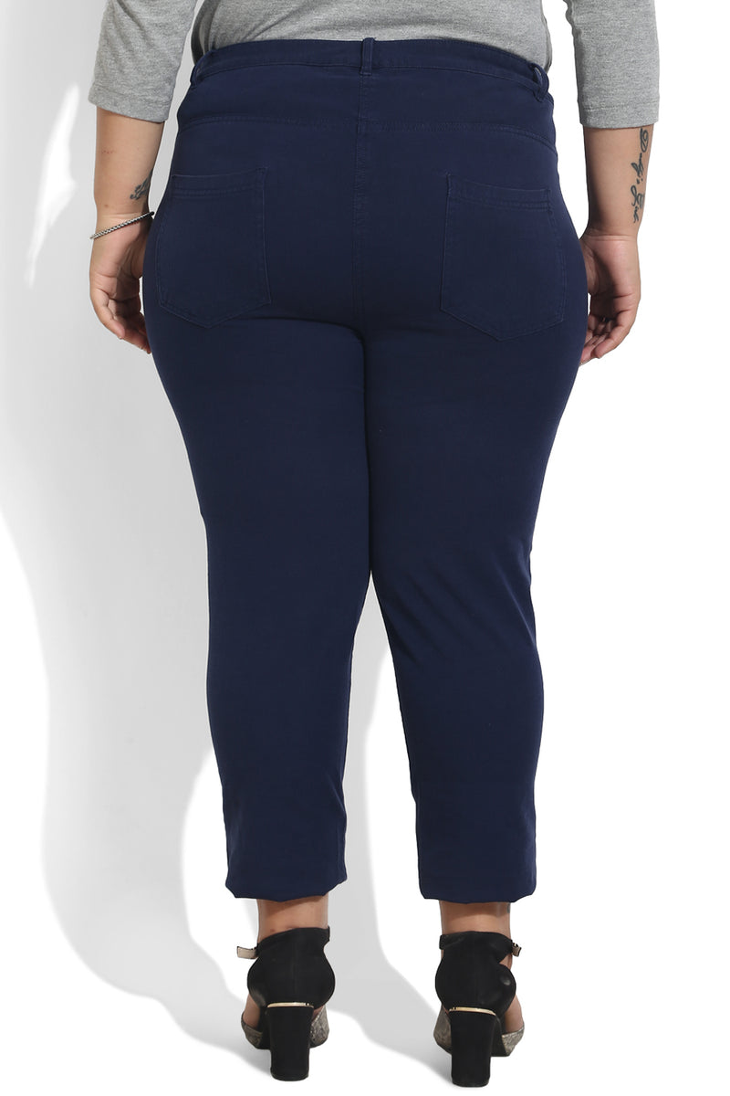 Navy Mid Blue Stretch Pants