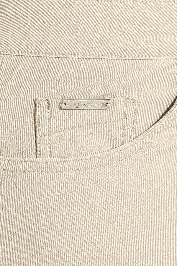 Beige Basic Stretch Pants