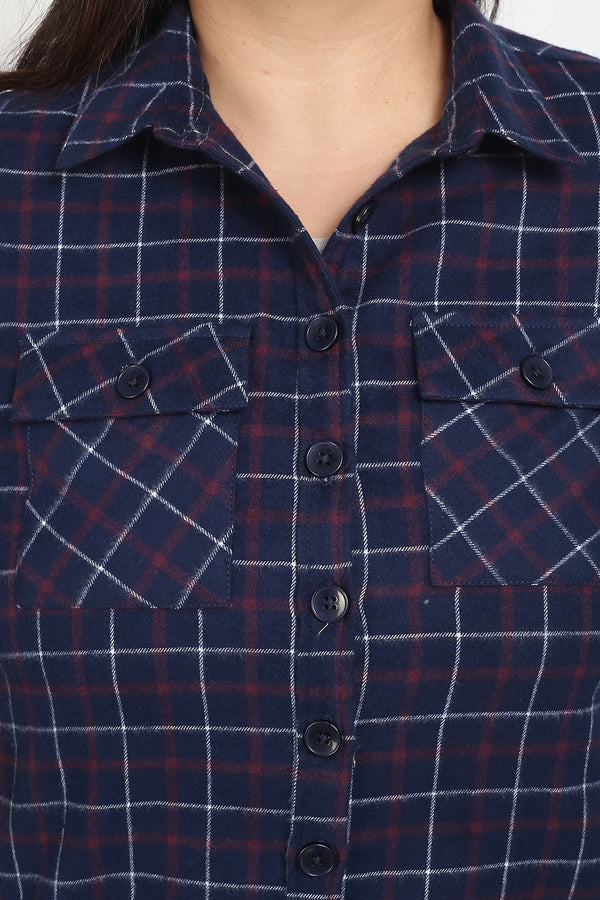 Navy Check Autumn Shirt