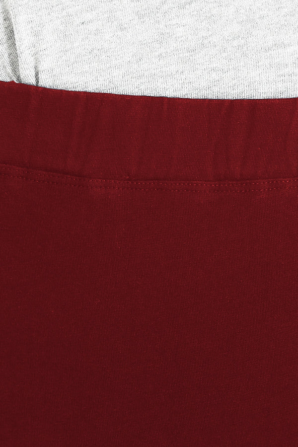 Maroon Basic Leggings