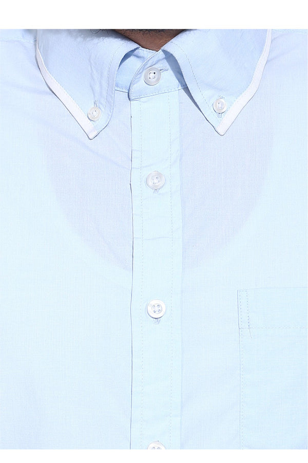 Sky White Detailed Formal Shirt