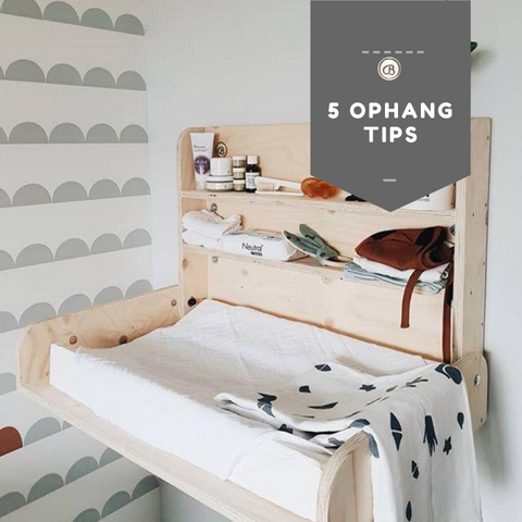 5 hanging tips for the babywoods wall dresser