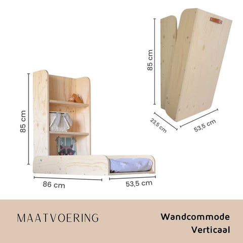 Tallas pared cofre vertical Babywoods