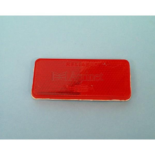 Reflector Squere Stick-On Autoshop Red 90mmx2