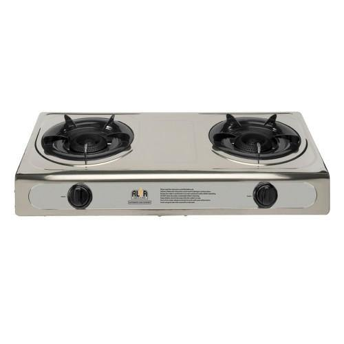 2 Burner Stainless Steel Gas Stove
