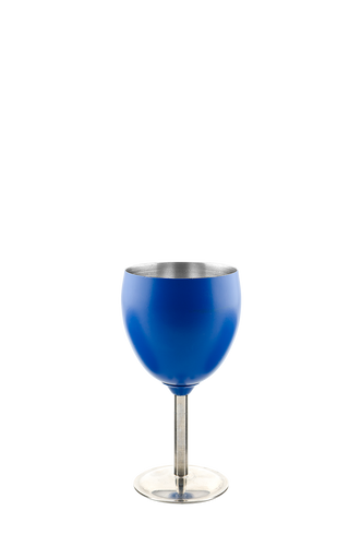 Stainless Steel Wine Goblet Blue