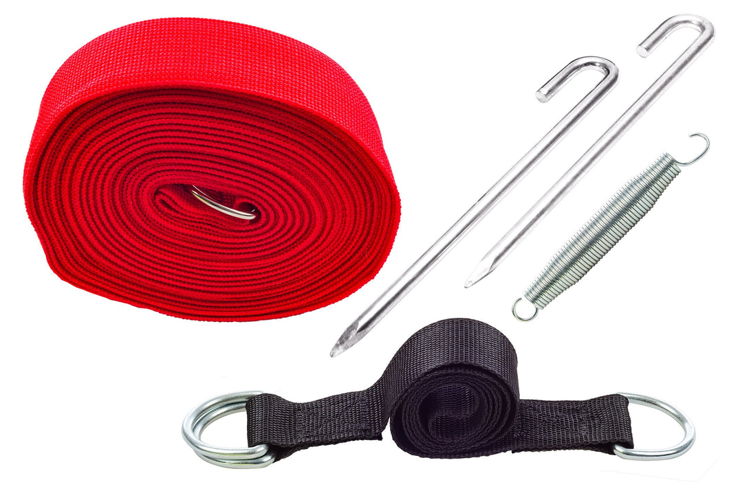 Wind Stability Strap Kit with Spring & Straight Pegs