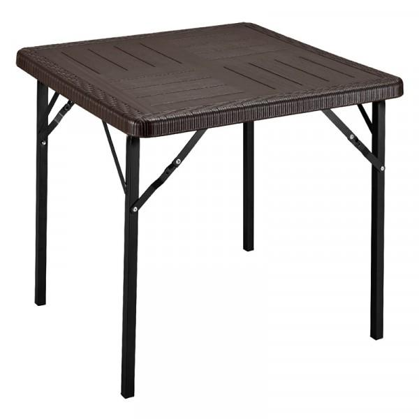 Kaufmann Table Hdpe Square 78cm  Brown
