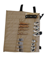 Load image into Gallery viewer, Canvas Cutlery Bag 24pc - Roll Up