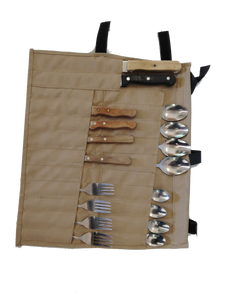 Canvas Cutlery Bag 24pc - Roll Up