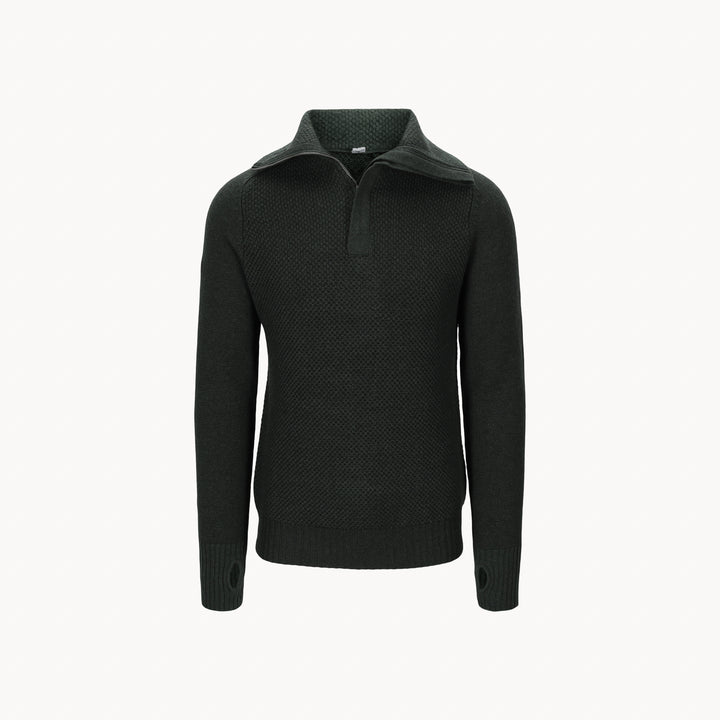 Unisex Lambswool Half Zip Sweater