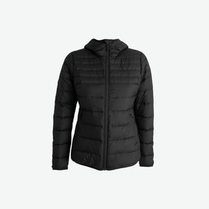 WomensDownHoodedJacket-Black-Front (4422141673603)