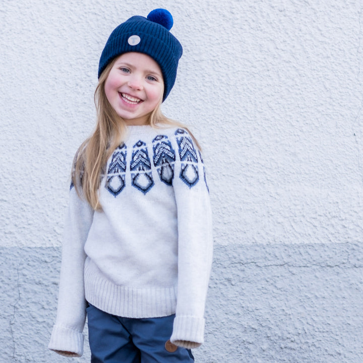 Kids Lambswool Pattern Sweater