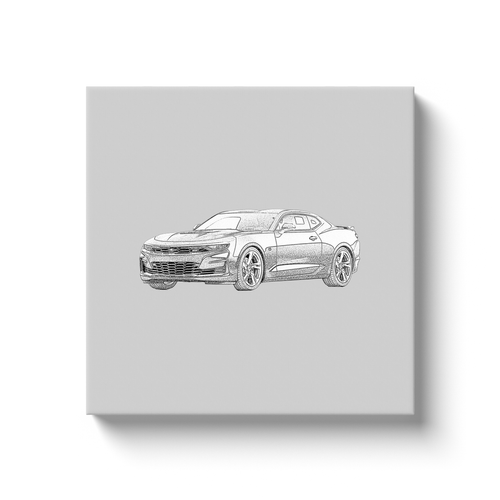 Chevrolet Camaro (6th Generation 2019+ Redesign) Canvas Print