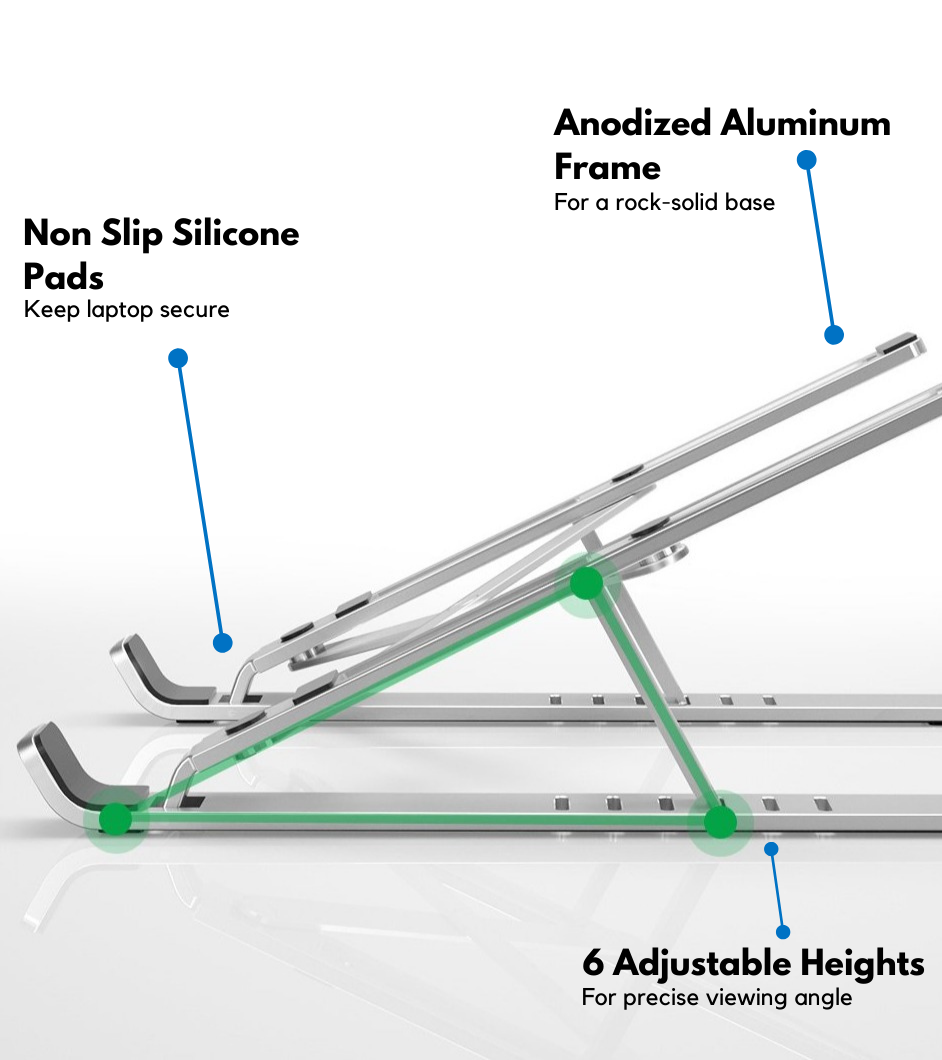 FOLDABLE ALUMINUM ALLOY LAPTOP STAND