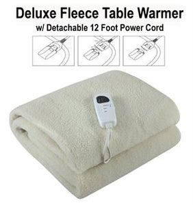 Deluxe Fleece Massage Table Warmer for Heating, Electric Pad for Spa, Massage Therapy, Auto Shut Off and Adjustable Temperature, Full Size with 4 Timer Settings