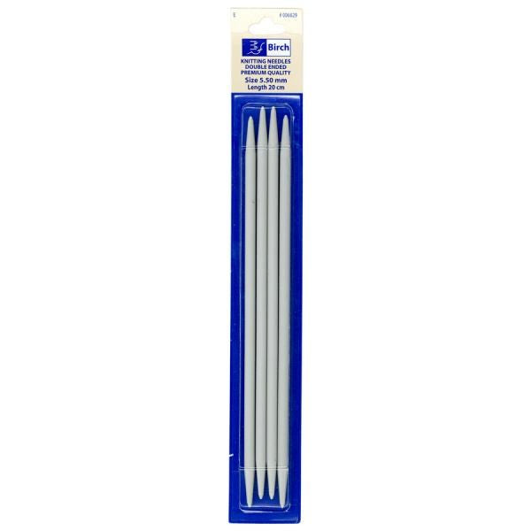 Birch Double Ended Knitting Needles (Anodised, 4 Pack)